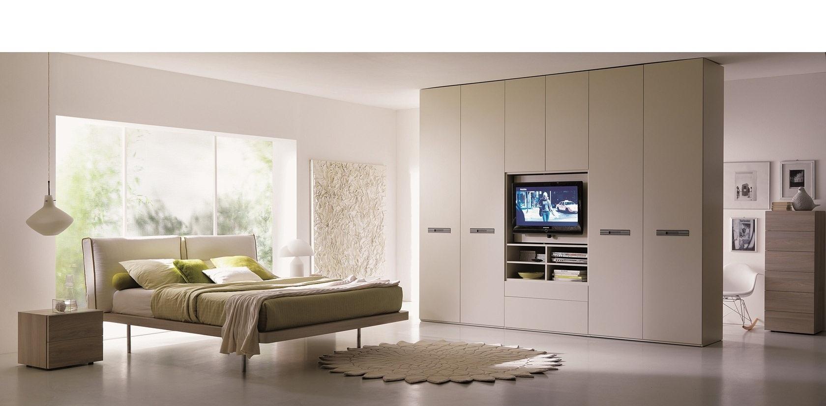 camera da letto con armadio porta tv sogno immagine spaziale