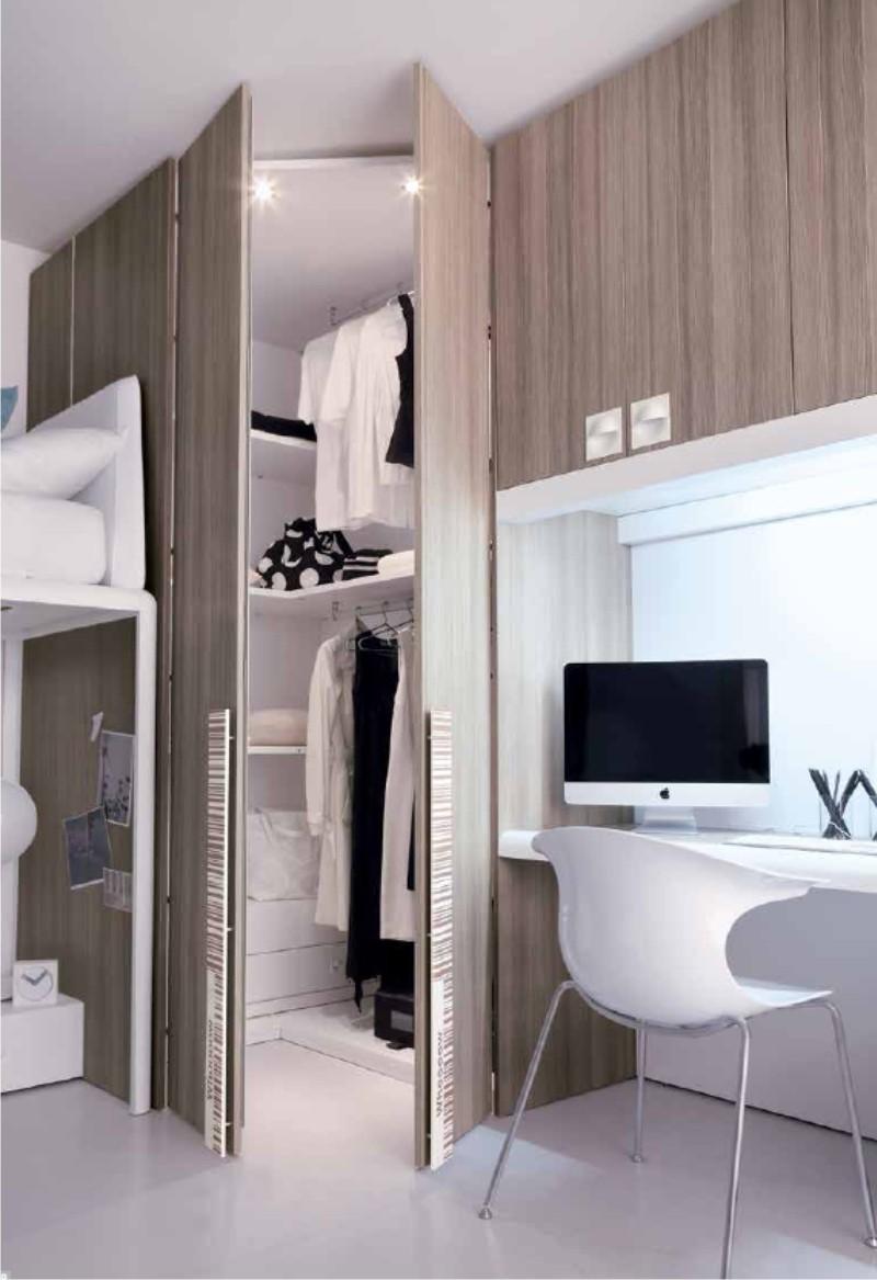Cabine armadio modulari per camerette - Camera da letto con cabina armadio ad angolo ...