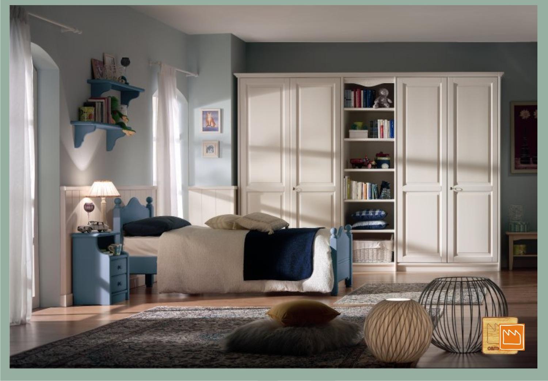 Camerette in legno massello con letti a terra - Camerette classiche per bambini ...