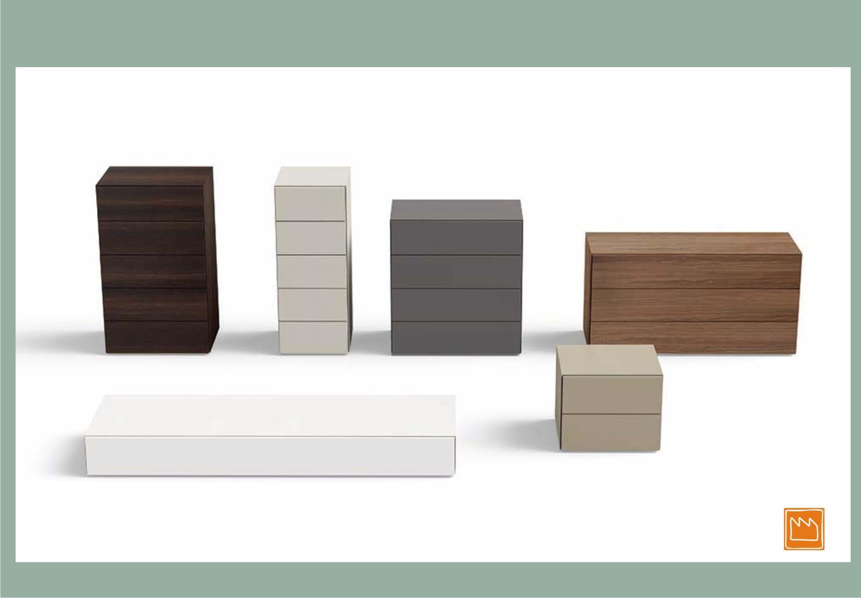 Comodini e cassettiere per la camera singola e matrimoniale for Cassettiere moderne