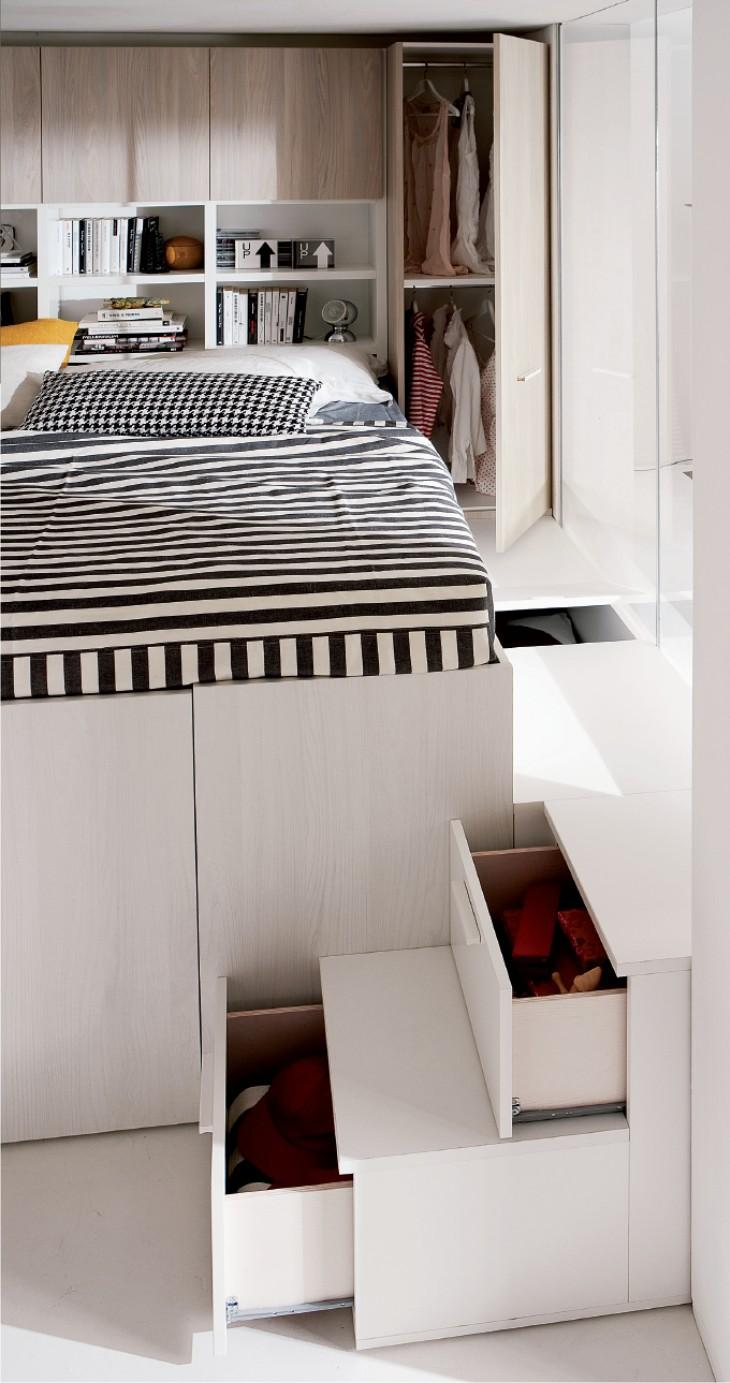 Container matrimoniale il soppalco con l 39 armadio - Progetto letto a soppalco ...