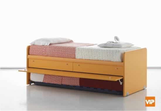 Letti con secondo letto estraibile per gli ospiti