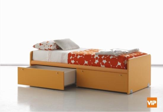 Il letto coi cassetti: un modo pratico di risparmiare spazio, se l ...