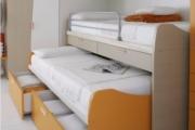 letto arkimede con scrivanie e cassetti