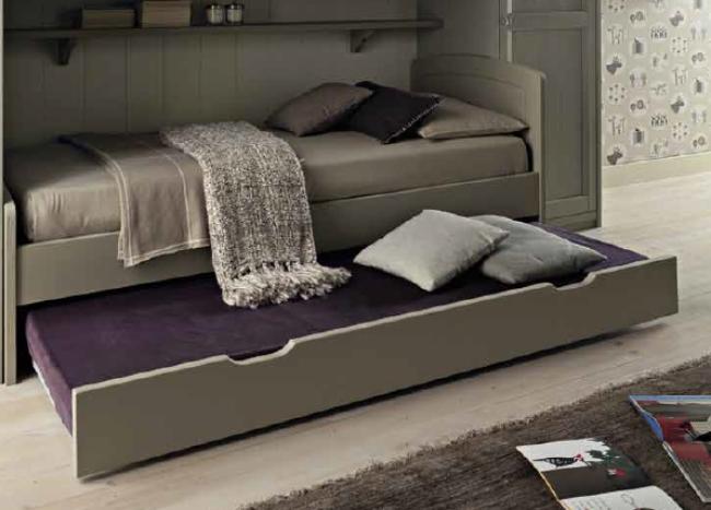 Letti in vero legno massello - Letti con letto estraibile ...