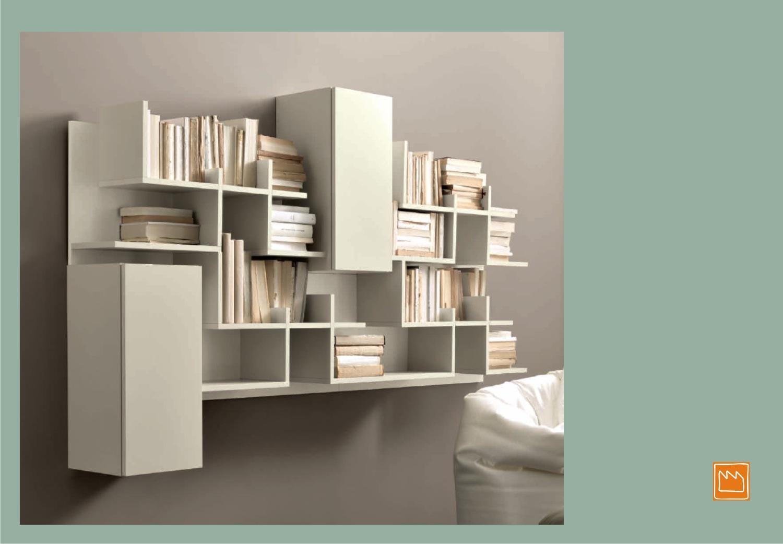 Liberie pensili di design for Librerie moderne bianche