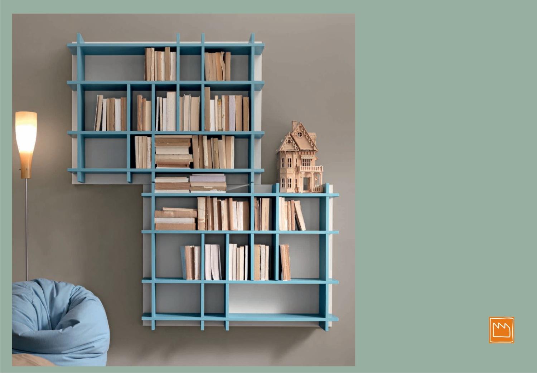Liberie pensili di design for Librerie pensili componibili