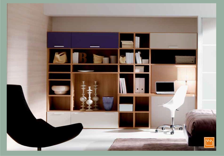 librerie per la cameretta e per il soggiorno - Zona Studio In Soggiorno