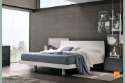 letto laccato bianco