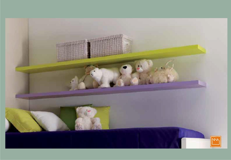 Mensole lineari le camerette per bambini for Mensola sopra letto