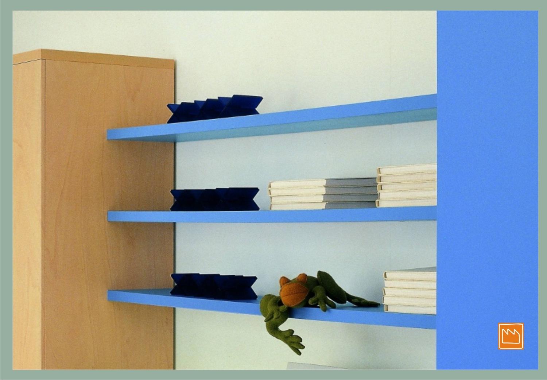 Mensole lineari le camerette per bambini for Mensole per cameretta