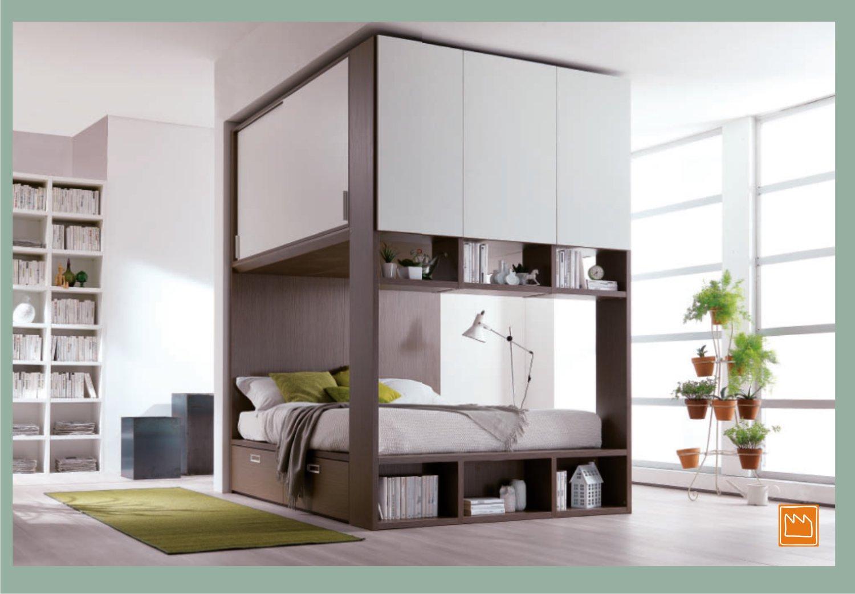 Palafitta la camera a ponte compatta e super capiente for Camera da letto a ponte ikea
