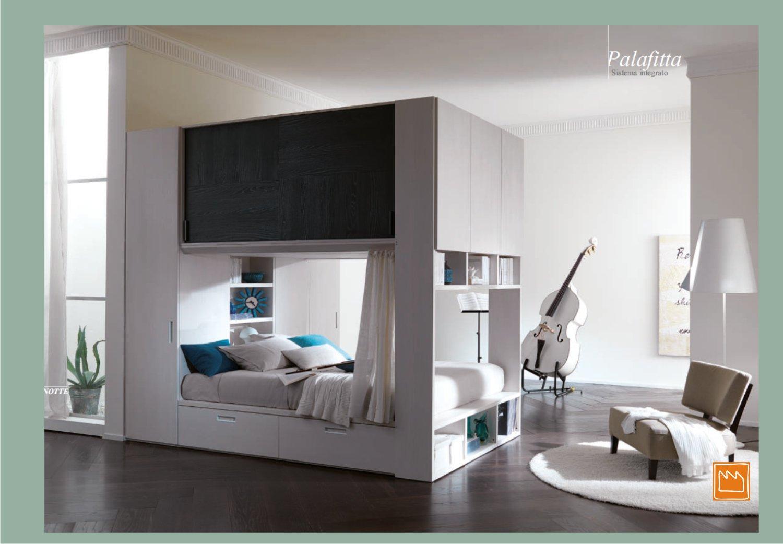 Camera matrimoniale moderna palafitta bianco e weng - Camera da letto moderna piccola ...