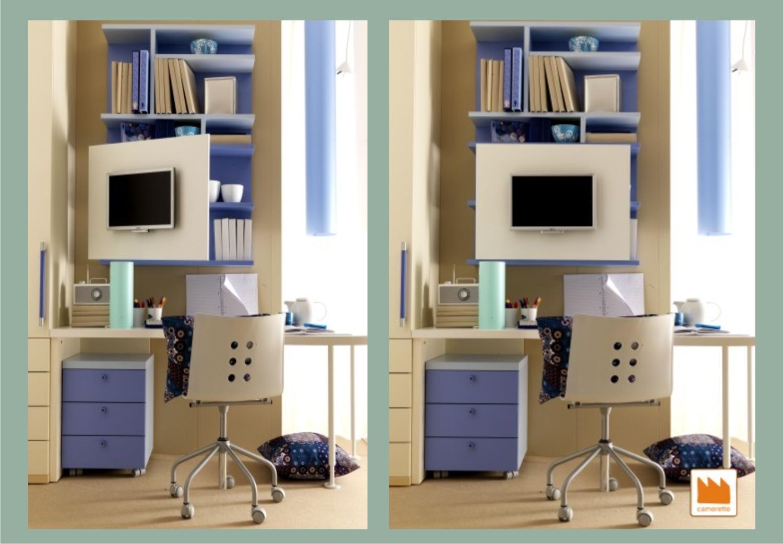 Pannello porta tv camerette per raqgazzi - Pannello porta tv orientabile ...