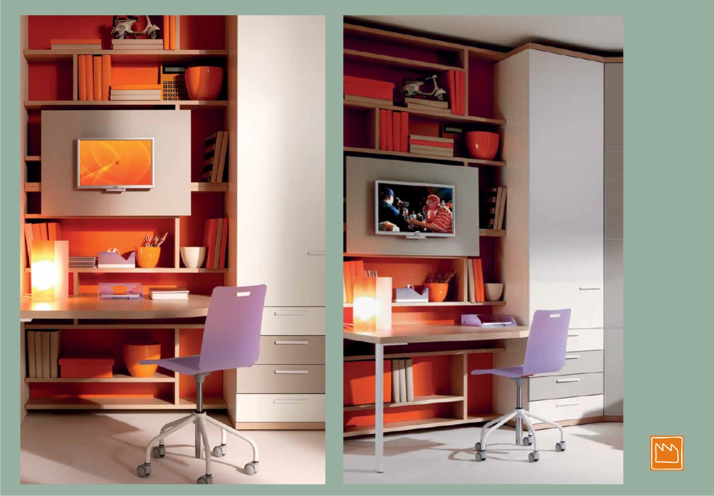 Pannello porta tv camerette per raqgazzi for Mobile scrivania libreria
