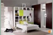 letto bianco in legno