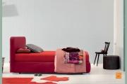 letto piazza mezza rosso