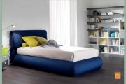 letto bombato blu