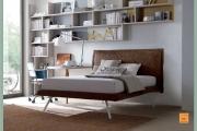 letto moderno in tessuto