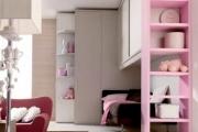 libreria semplice colorata di rosa