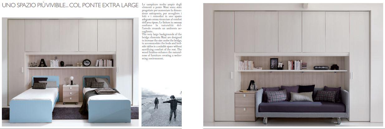 Beautiful camerette classiche a ponte ideas amazing for Arredamenti convenienti fano