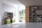 cameretta completa con libreria modulare