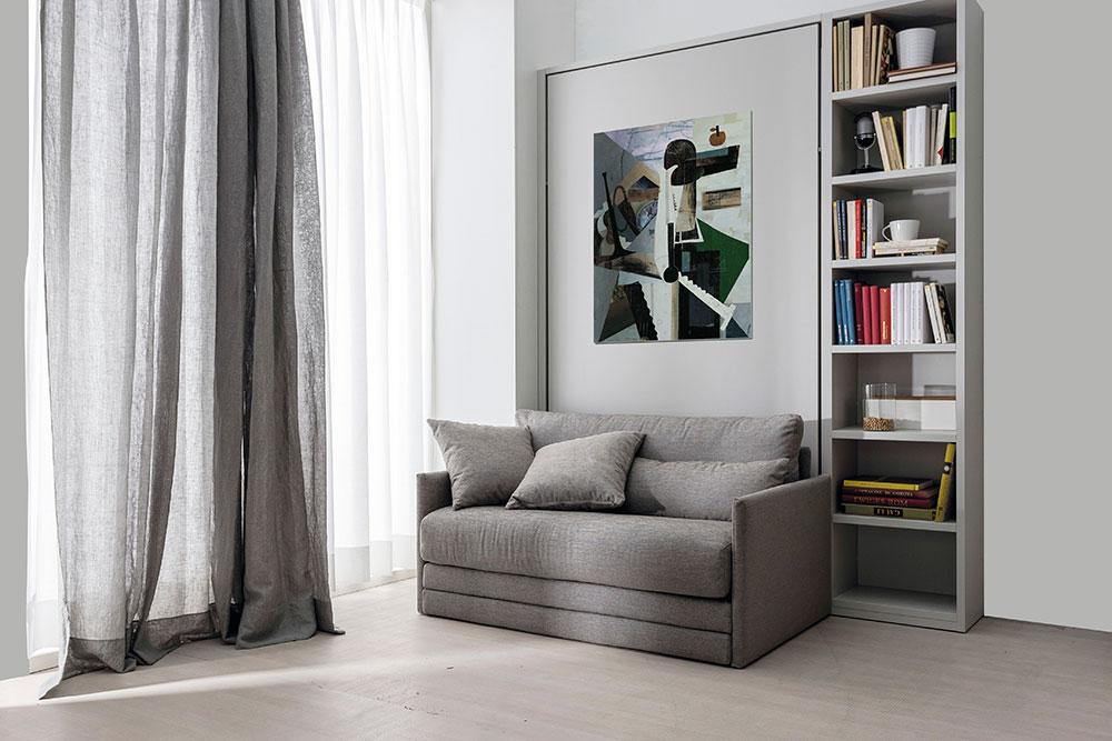 Mobili letto trasformabili ad una piazza e mezzo for Letto a scomparsa con divano