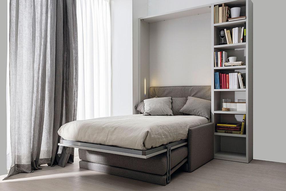 Mobili letto trasformabili ad una piazza e mezzo for Camerette letti a scomparsa