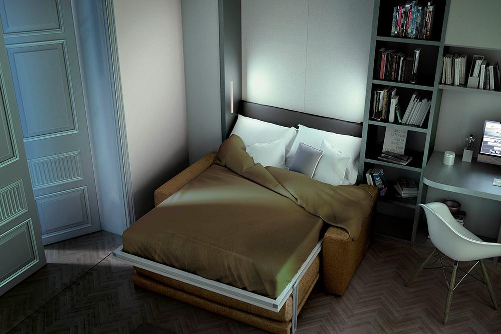 Mobili letto trasformabili ad una piazza e mezzo - Letto ad armadio a scomparsa ...