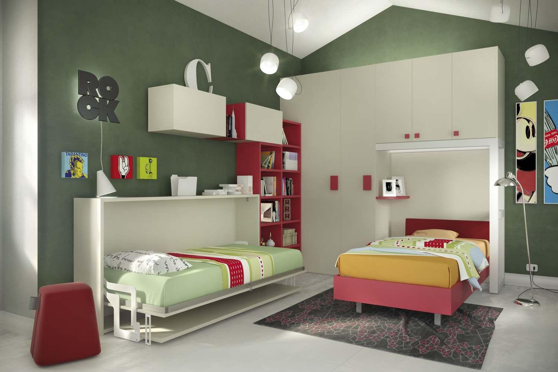 Mobili trasformabili singoli: il letto c'è, ma non si vede.