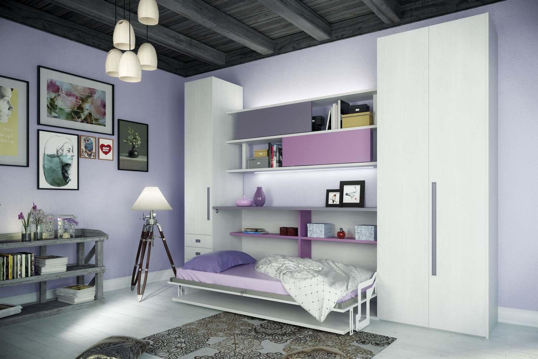 Letti singoli a scomparsa: mobili letto trasformabili