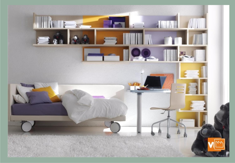 Libreria snake camerette per ragazzi ragazze e bambini for Mensole moderne camera da letto