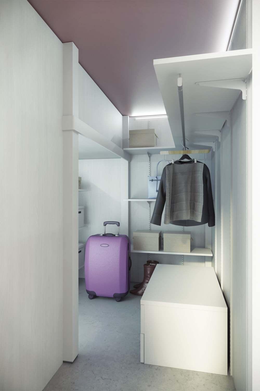 Misure cabine armadio camerette : Arredamento a soppalco in mansarda