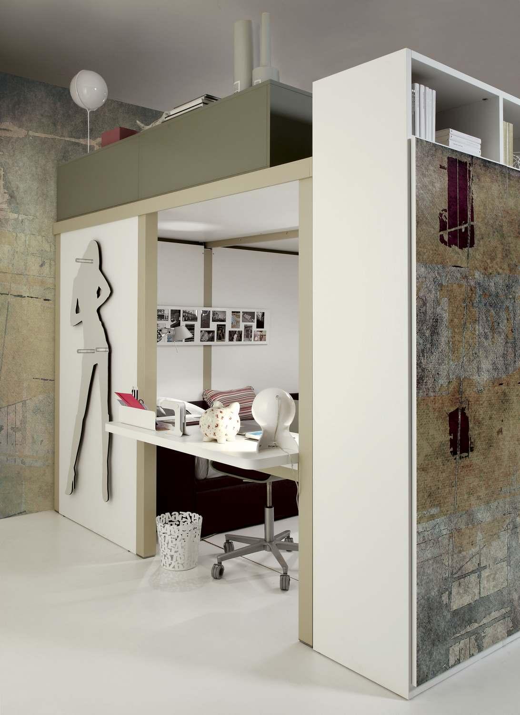 Soppalco matrimoniale su misura for Cabina 2 camere da letto con planimetrie loft