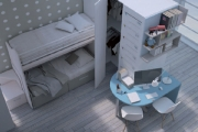 Una soluzione conveniente per la cameretta piccola