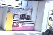 Il soppalco Station Wagon comprende 2 letti e scrittoio