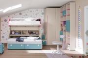 Il soppalco contiene si la scrivania che il secondo letto