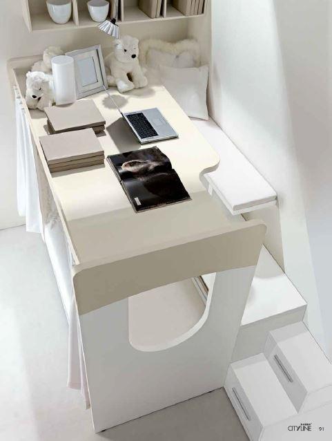 Castello giotto con scrivania sopra - Letto con scrivania ...