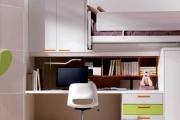 cameretta per ragazzi con ampia scrivania