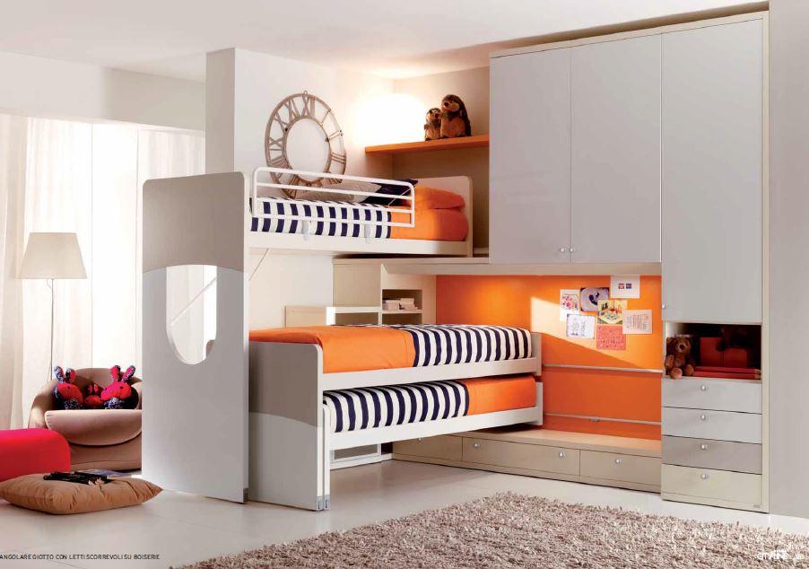 Cameretta a soppalco per tre ragazzi - Organizzare camera da letto ...