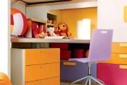 scrivania per cameretta con libreria e cassettiere