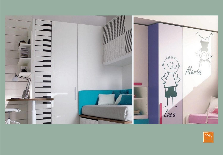 Stickers adesivi murali per decorare camerette da bambini - Stencil adesivi per mobili ...