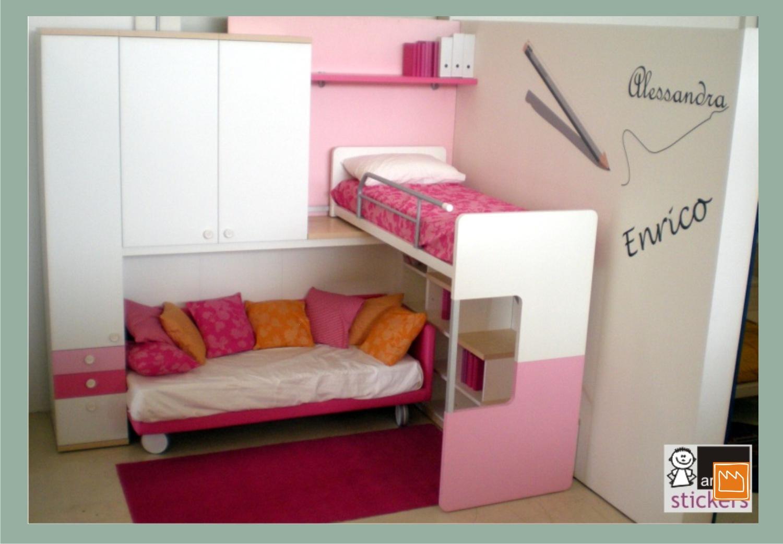 Stickers adesivi murali per decorare camerette da bambini for Aggiunta camera da letto separata