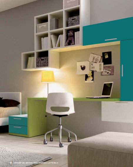 Cameretta con scrivania attrezzata fabbrica camerette - Cameretta con scrivania ...