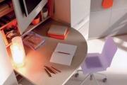 scrivania cameretta sagomata a misura