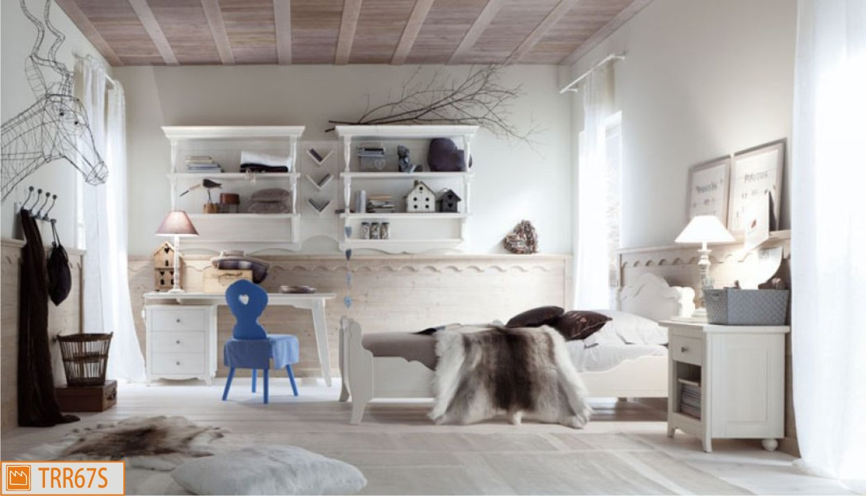 Cameretta country di scandola mobili for Decori per camerette neonati