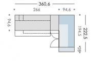 misura cameretta con letto a soppalco e cabina