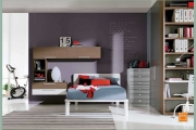 letto a pois in stile moderno