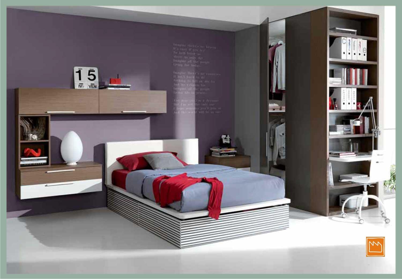 Letti da una piazza e mezzo con pianale e cassettoni xbed for Ikea letto mezza piazza