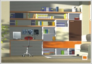 libreria con piano studio